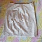 Dopasowana srebrna spódniczka