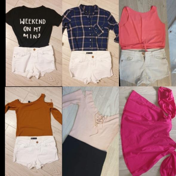 Paka ubrań top koszula koszulki Hiszpanka xs s