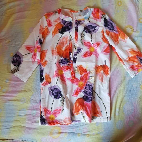 Koszule Kolorowa koszula w kwiaty
