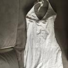 Biała sukienka dopasowana duży dekolt uniwersalny rozmiar