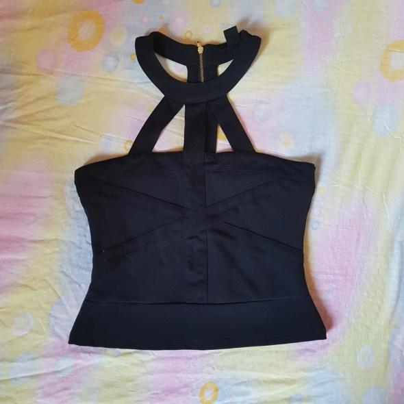 Top Czarny top zip