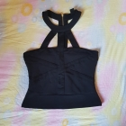 Czarny top zip