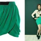 Zielona spódnica tulipan H&M z szyfonu 44 zakładana H&M by Night