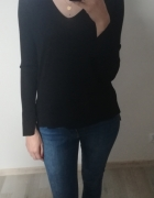 Czarny asymetryczny sweterek ZARA M