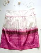 rozmiar 42 elegancka Spódnica biało różowa...