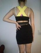 NEON sukienka bodycon bandage wycięcia