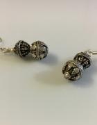Indyjskie zdobione kolczyki srebrne...