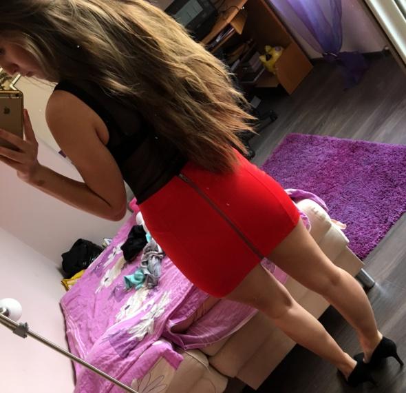 Spódnice Czerwona mini spódniczka CROPP S
