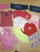 Zestaw ubrań dla dziewczynki w wieku 1 3 latka rozmiar 80 98 17 szt