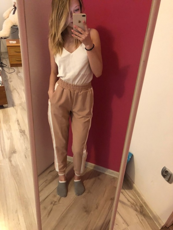 Śliczne Spodnie zara...