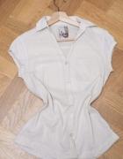 Bershka beżowa przewiewna koszula...