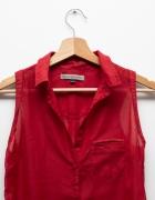 Czerwona koszula mgiełka Bershka vintage retro...