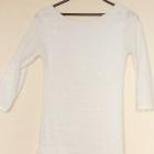 Biała tunika XS S elegancka cekiny kuleczki