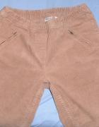 Sztruksowe beżowe spodnie prosta nogawka Esmara 40 L na gumkę...