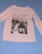 Różowa bluza aplikacja H&M 158164...