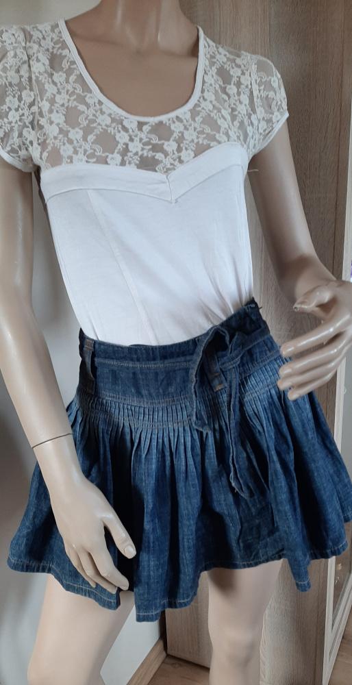 Spódnice Jeansowa rozkloszowana mini