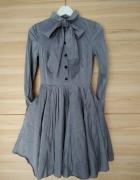 Sukienka rozkloszowana z kokarda 36...