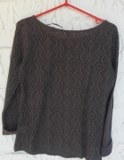 Oliwkowa ażurowa bluzka khaki M