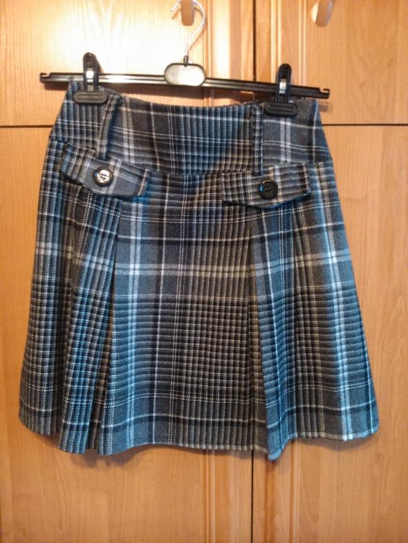 Spódnice ciepła kraciana spódnica