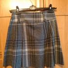 ciepła kraciana spódnica