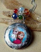 Anna i Elsa Frozen Kraina Lodu sekretnik wisior na zdjęcie nasz...