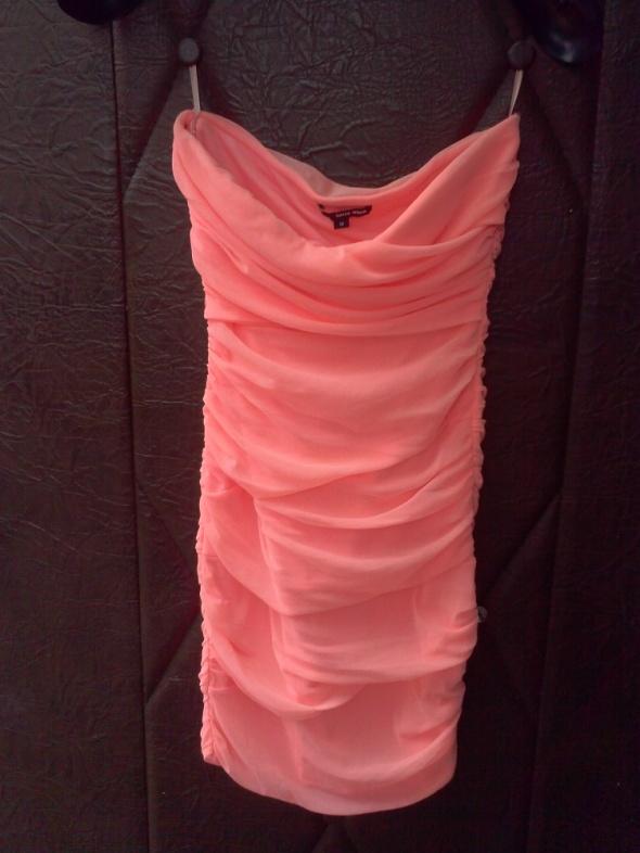 Neonowa sukienka tuba siateczka M...