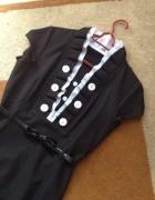 sukienka czarna elegancka ze stójką...