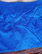 Spódnica krótka tuba niebieska kobaltowa rozmiar L...