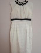 Sukienka korale tiul wesele minimalizm biała 38 M...