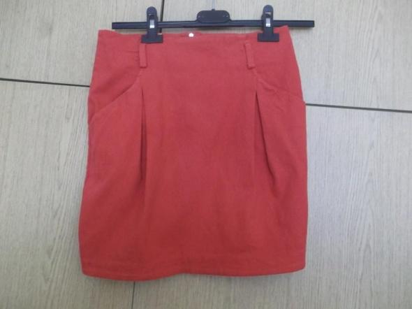 Spódnice Czerwona spódnica zipp