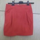 Czerwona spódnica zipp
