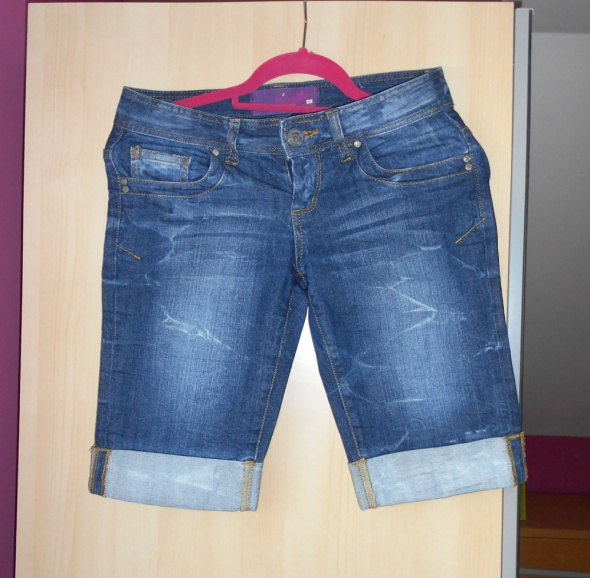 Spodenki Cropp jeans szorty spodenki jeansowe przed kolano