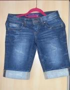 Cropp jeans szorty spodenki jeansowe przed kolano...