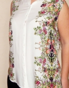 Reserved 42 XL bluzka koszula kwiaty print wzór...