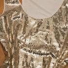 Atmosphere tunika sukienka z cekinami złota