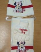 Nowy zimowy komplet czapka szalik rękawiczki Myszka MinnieMouse...