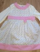Nowa sukienka dzieczęca z bodami wyjściowa komplet 86...