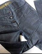 Granatowe jeansy SKINNY z wyższym stanem 38...