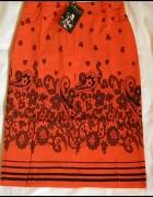 Pomarańczowa elegancka oryginalna spódnica r40...
