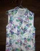 koszulowa bluzka w kwiatki 40 L...