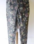 Spodnie Kwiaty KappAhl M 38 Rurki Woskowane Kwiatki...