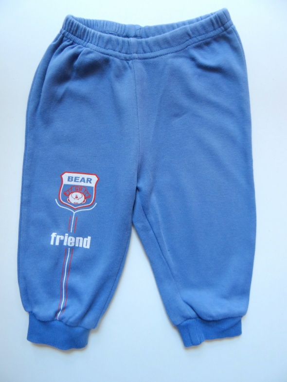 Niebieskie dresowe spodnie rozmiar 86