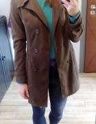 Płaszcz trencz prochowiec damski brązowy...