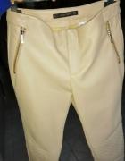 Beżowe spodnie eko Zara