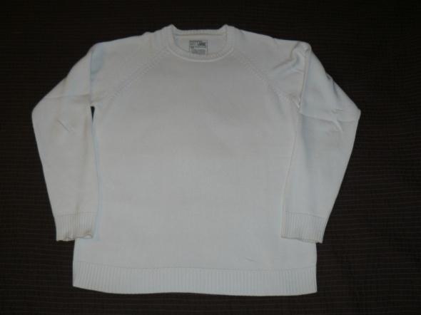 Biały sweterek męski L...