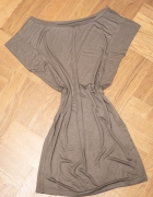 Bershka brązowa sukienka tunika...