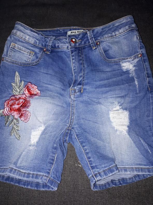 jeansowe spodenki...