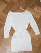 H&M biała ecru sukienka tunika...