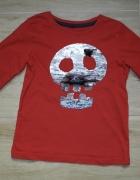 Czerwona bluzeczka z czaszką cekiny 104 110...