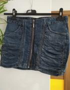 jeansowa spódniczka zasówak House